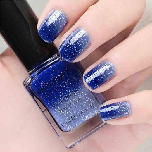 Glitter classic nail polish
